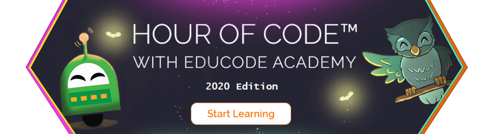 Hour of Code with EduCode Academy - 2020 Edition